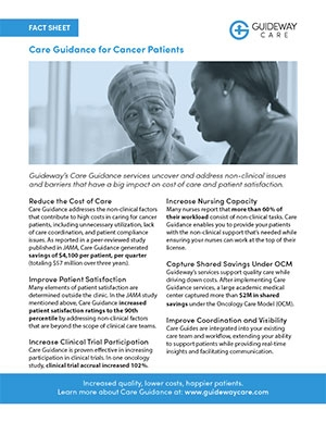 Care Guidance for Cancer Patients Fact Sheet